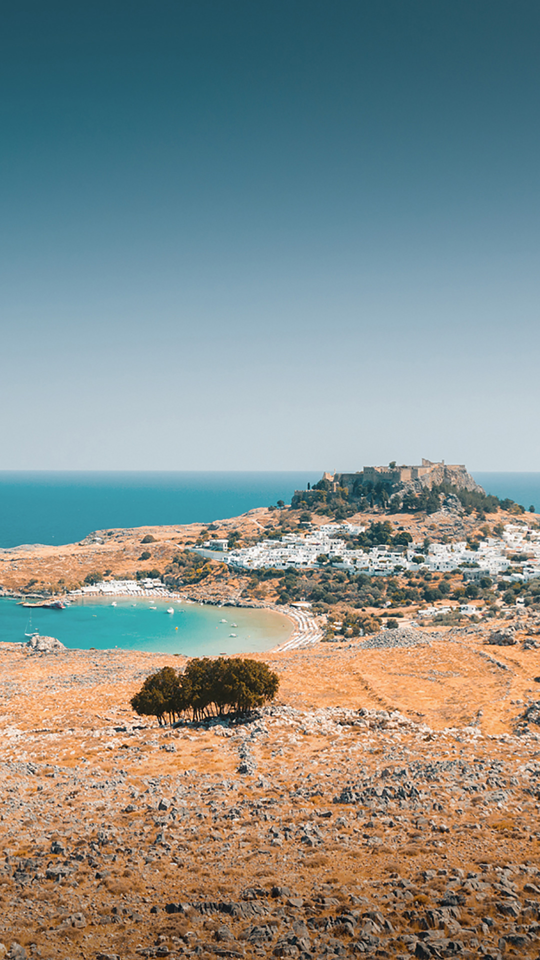 Approaching Lindos