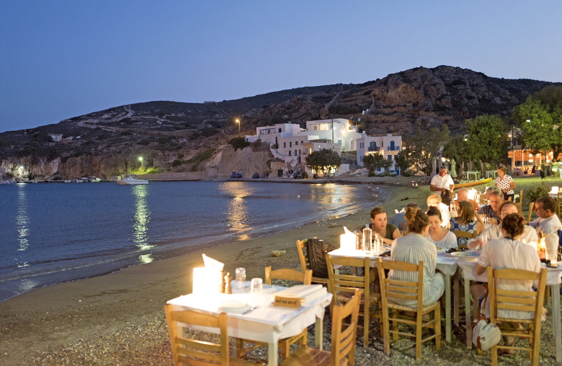 Beach restaurant on Kimolos