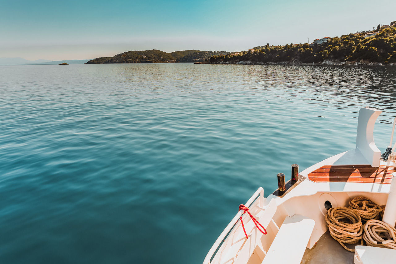 Boats leave from Skiathos port, where there are options for organised excursions and day cruises