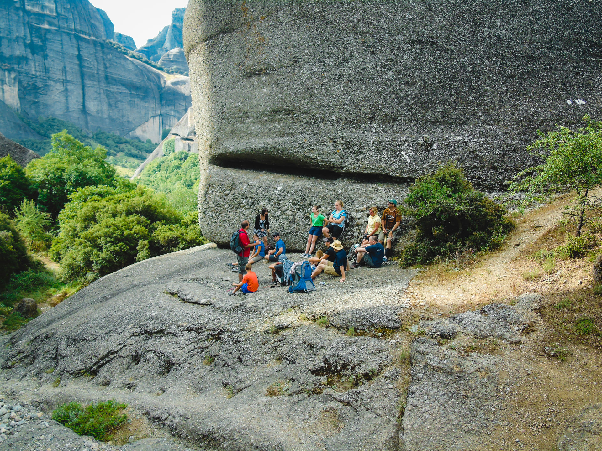 Walk among the gigantic rock pillars of Meteora