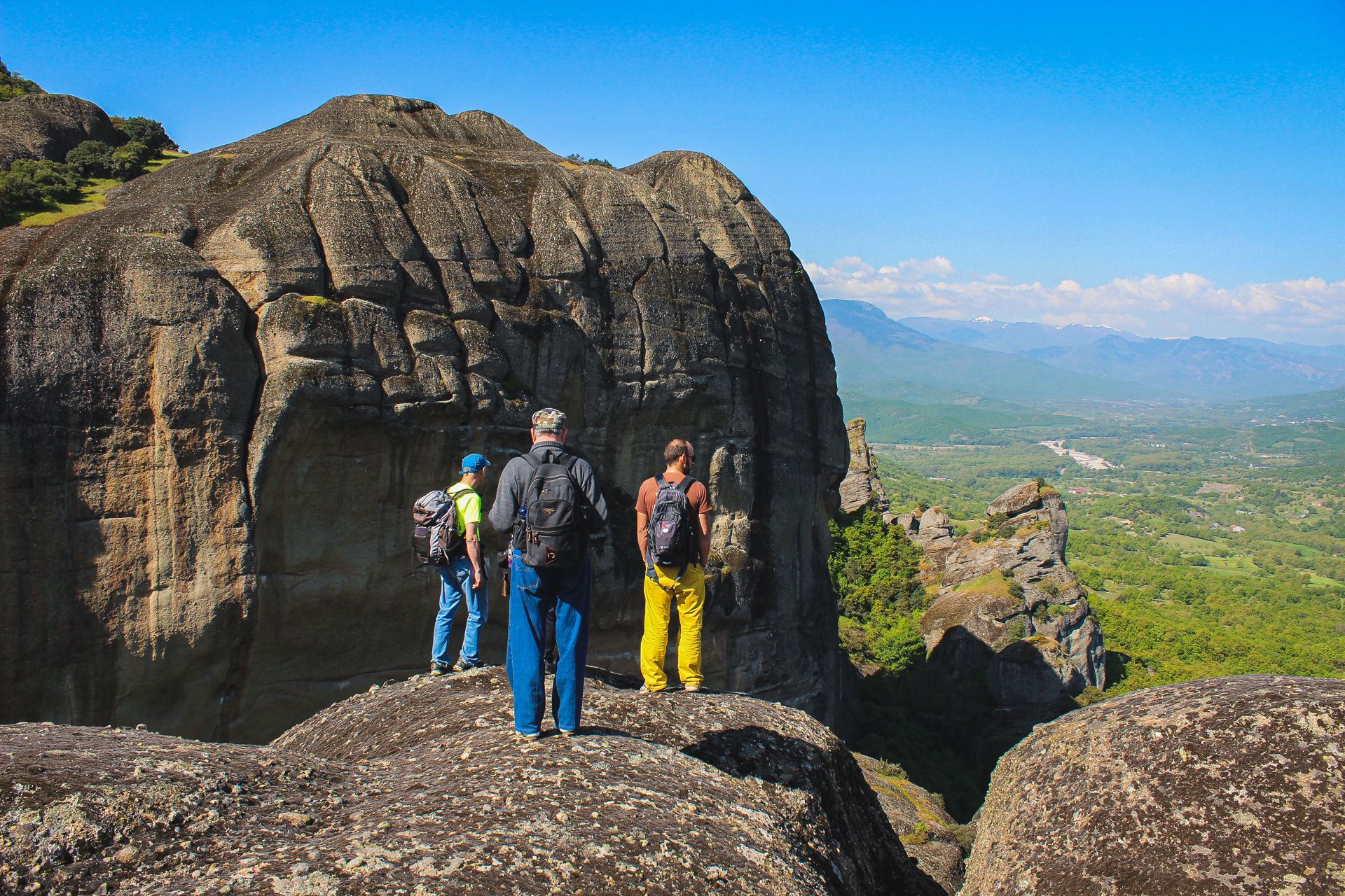 The magic of walking in Meteora is that the hiking paths are truly for the entire family