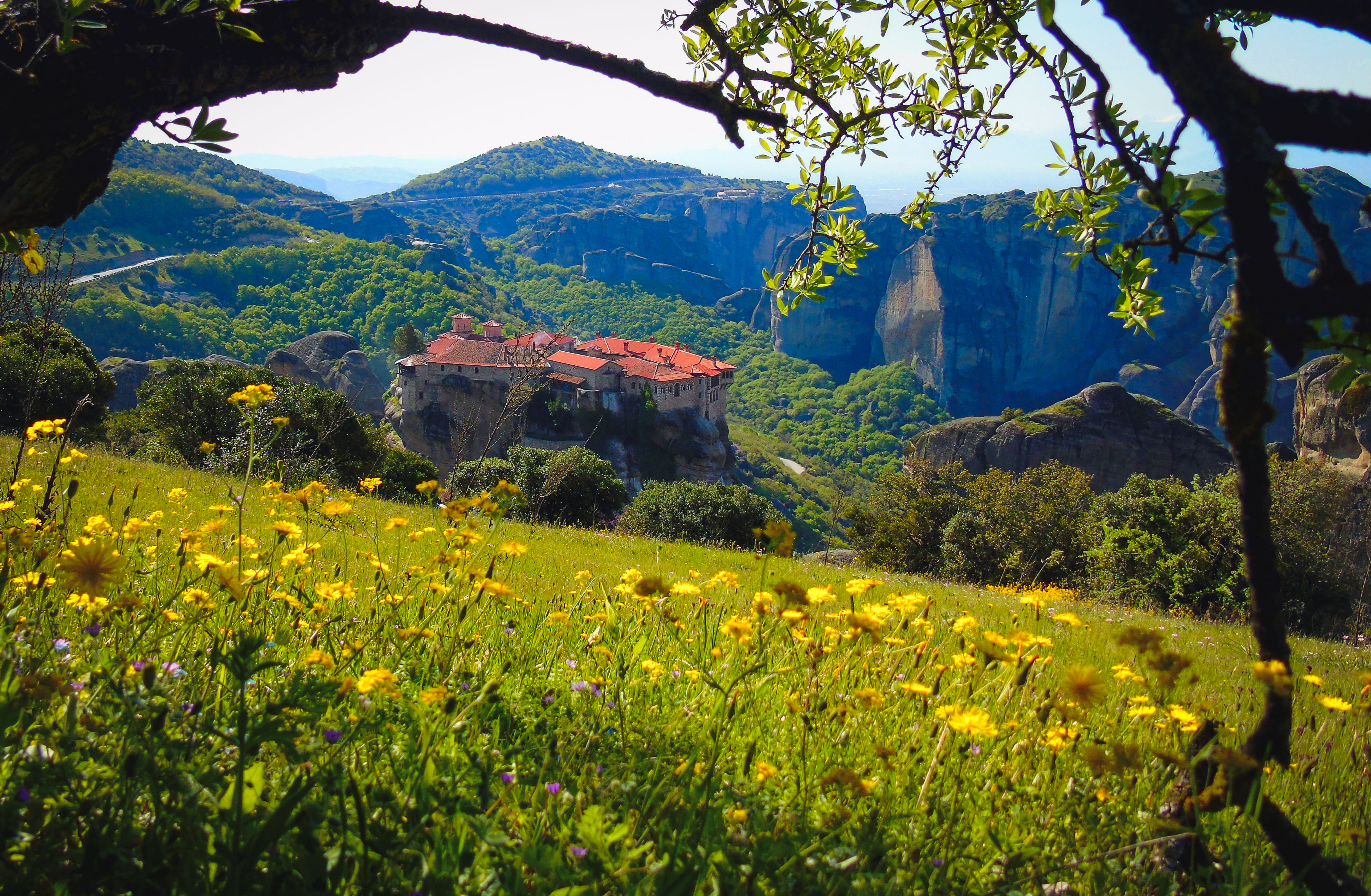 Spring in Meteora is especially beautiful, with nature in full bloom