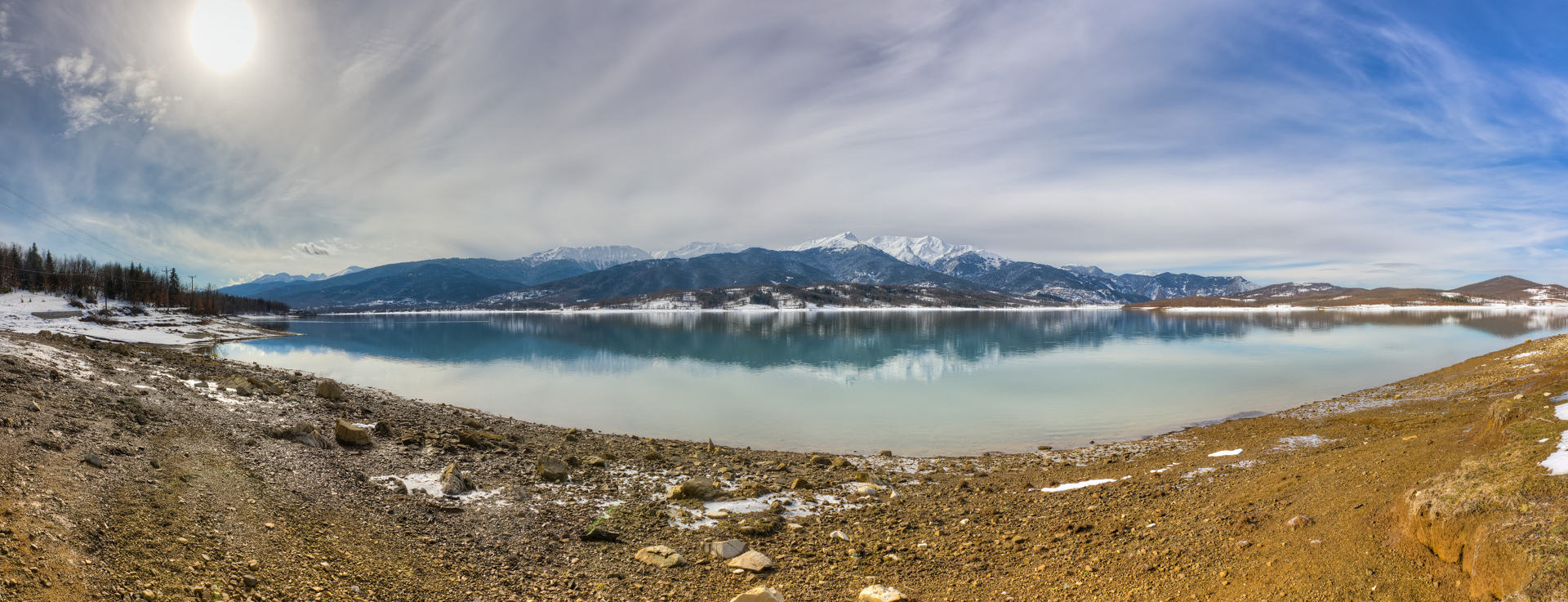 Lake Plastiras, panorama, Thessaly, Greece