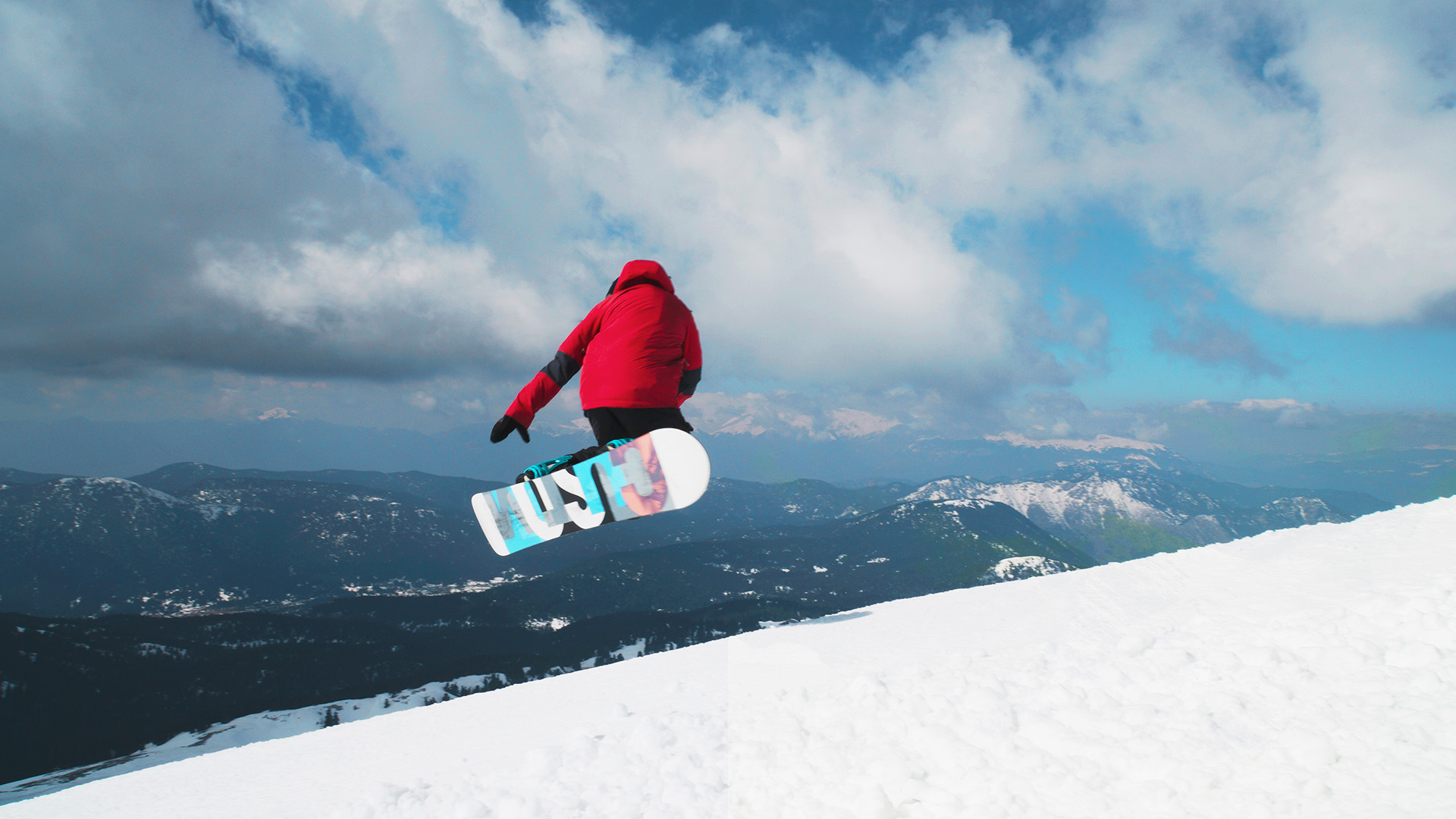 Snowboarding at Parnassos mountain