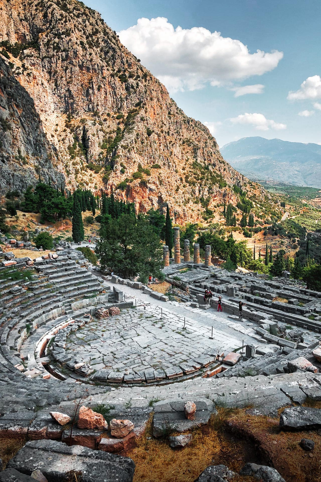 Originally built in the 4th century BC, Delphi's theatre was the artistic home of the sanctuary