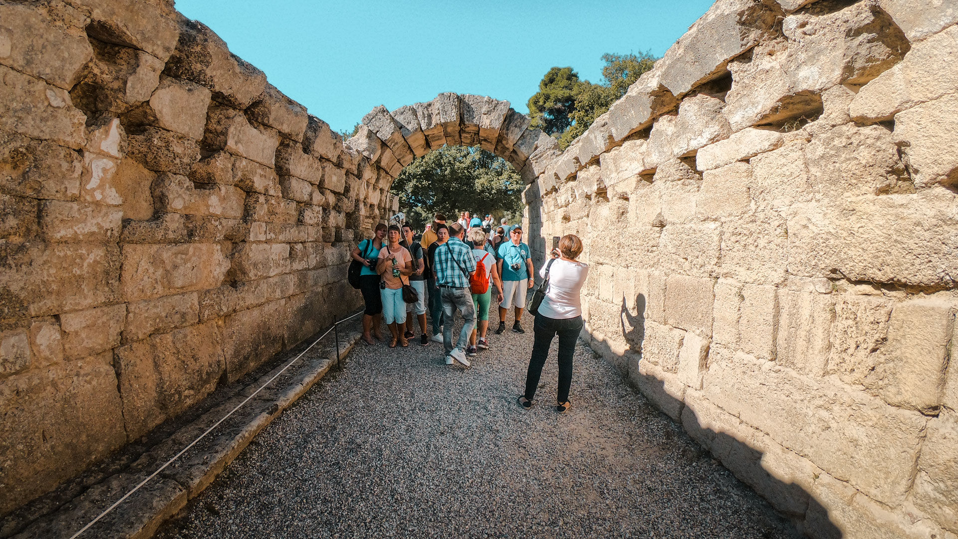 Passing through a stone archway, you enter the remains of the Ancient Stadium