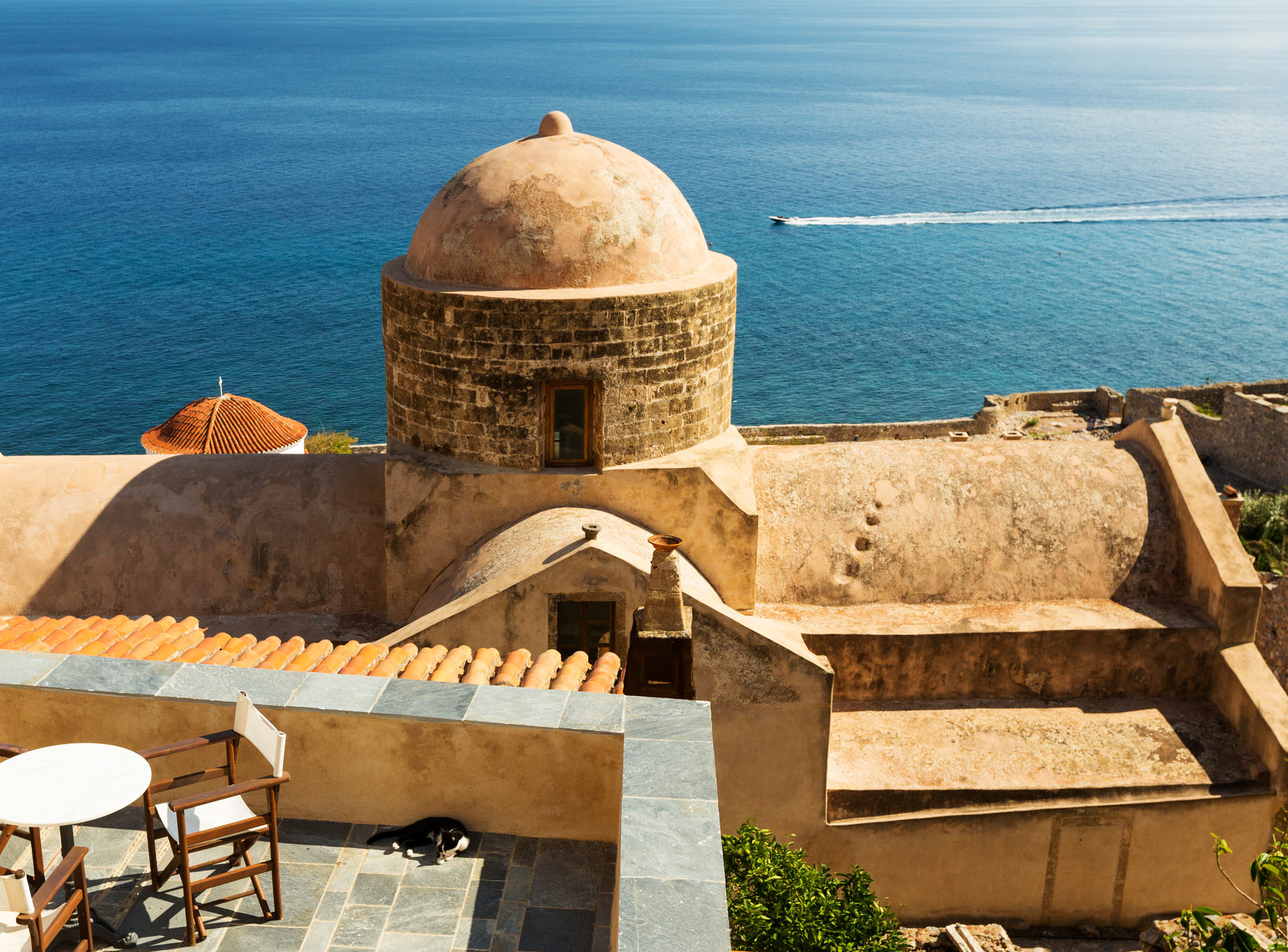 The medieval town of Monemvasia, Peloponnese, Greece