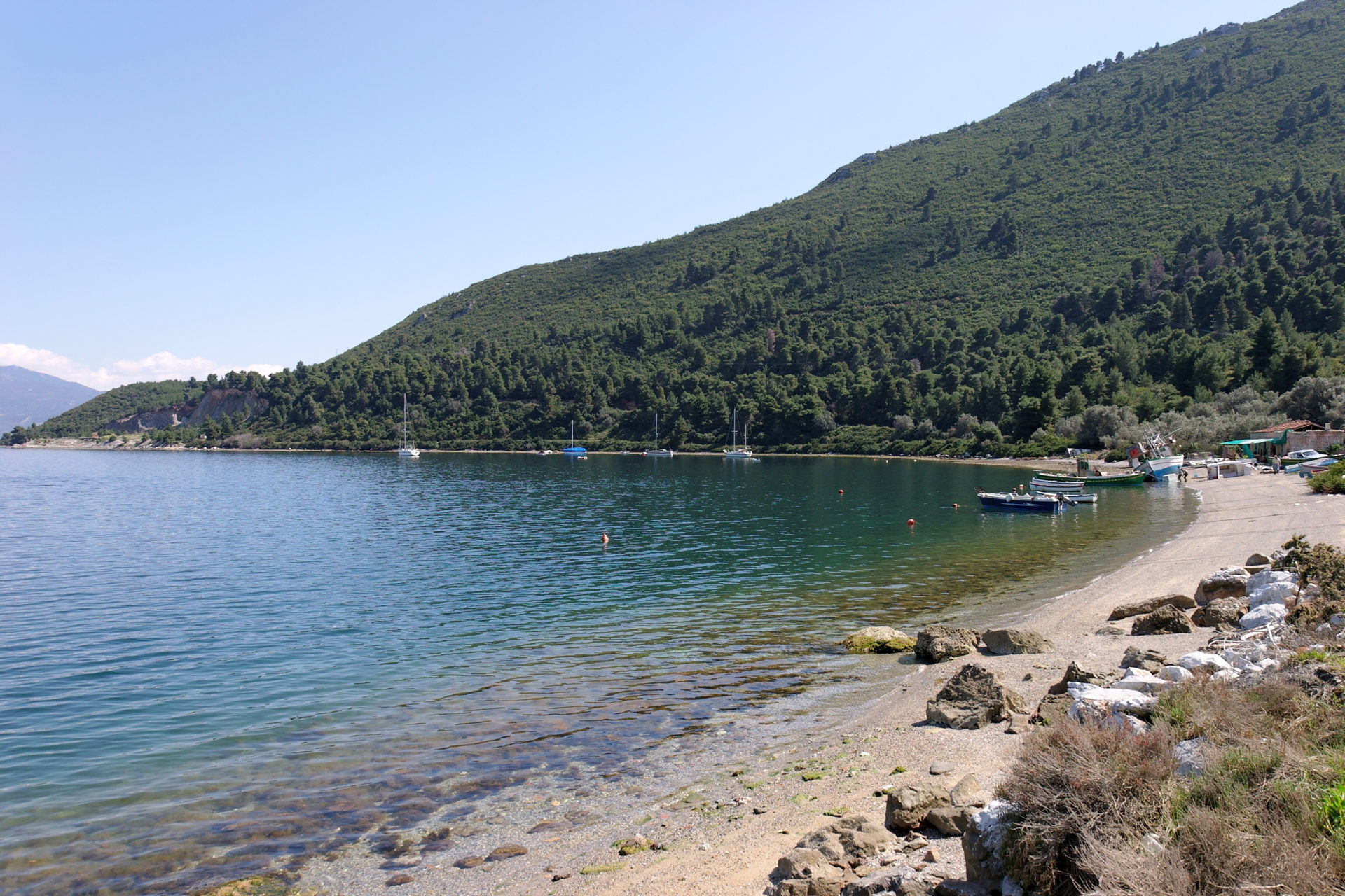 Beautiful bay near Edipsos