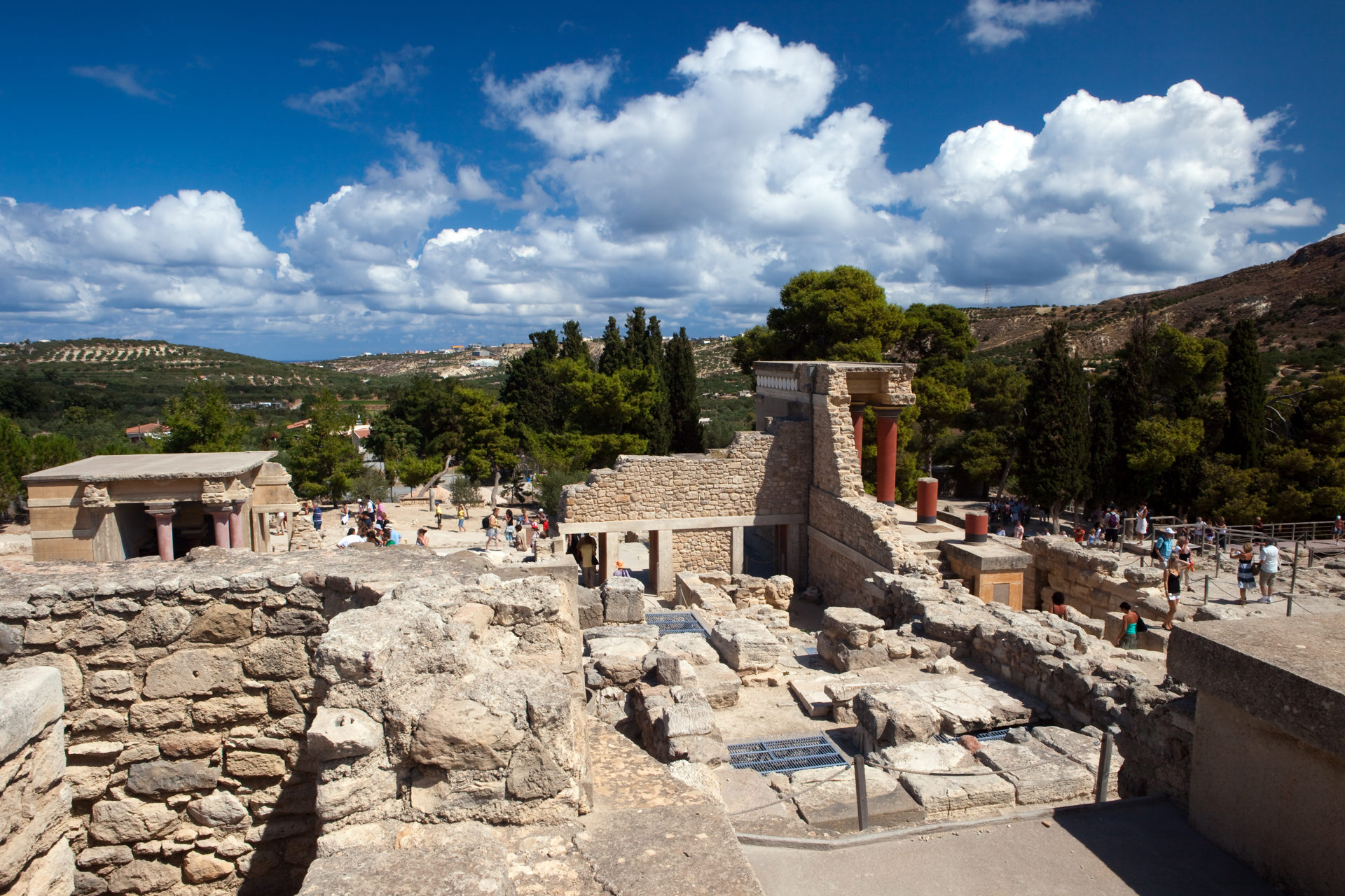 Ruins of the Knossos palace, Crete