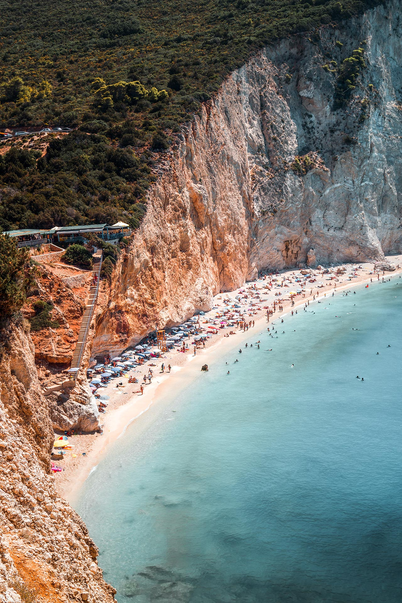 The majesty of Porto Katsiki beach on Lefkada