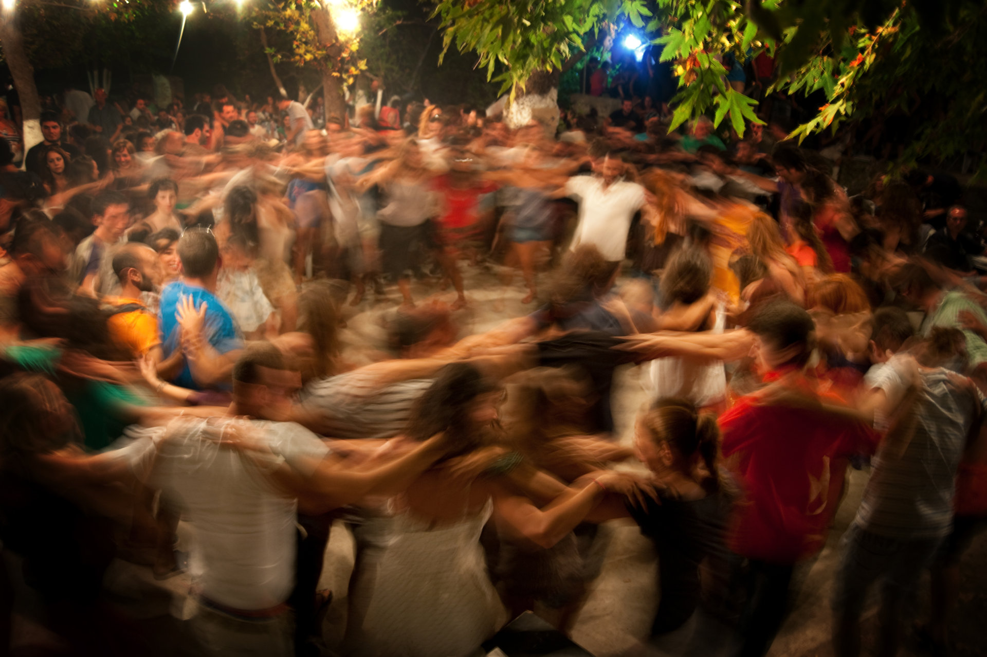 Dancing on a traditional festival in Ikaria island