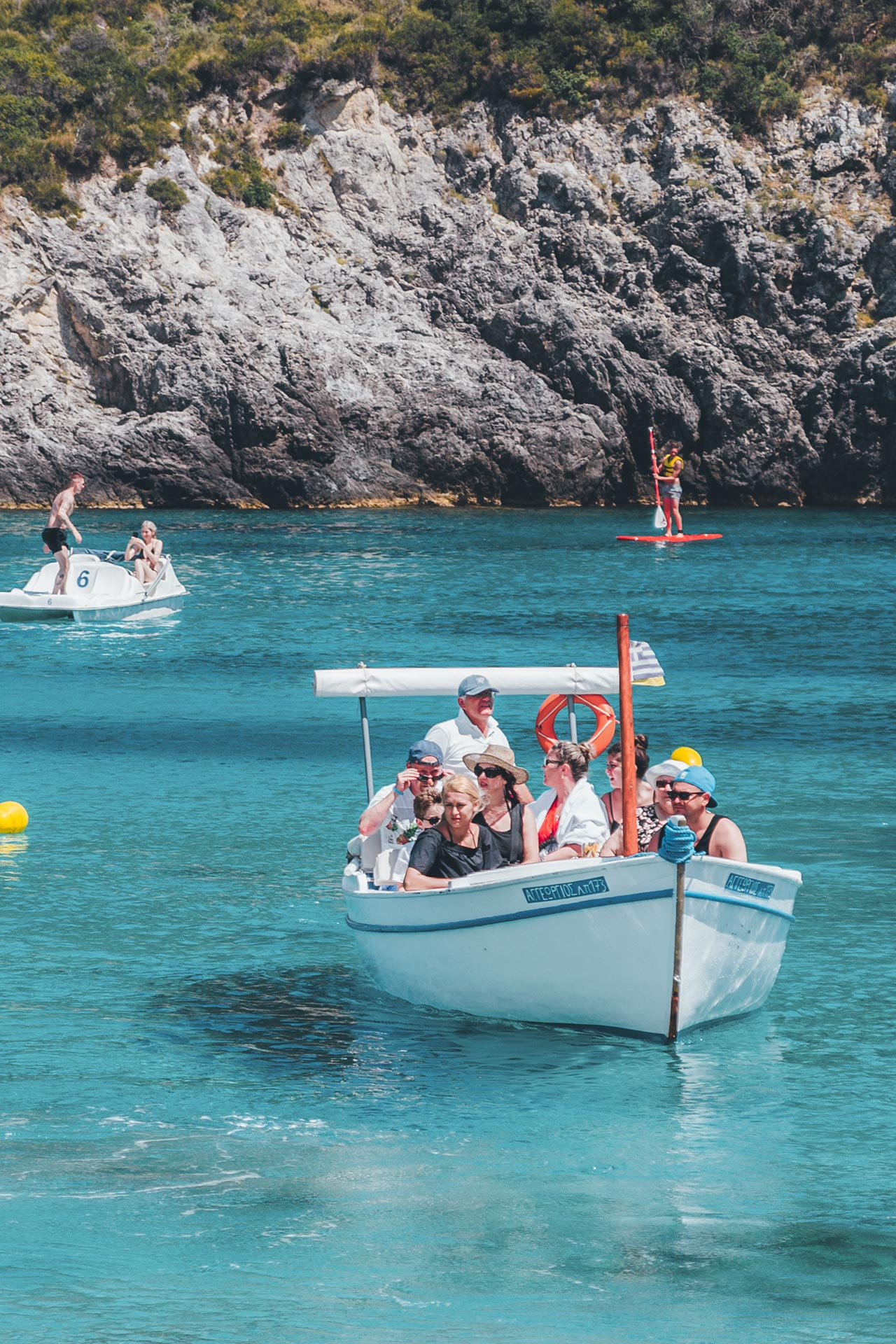 Boats make the short journey from Paleokastritsa, and other nearby spots in northeastern Corfu