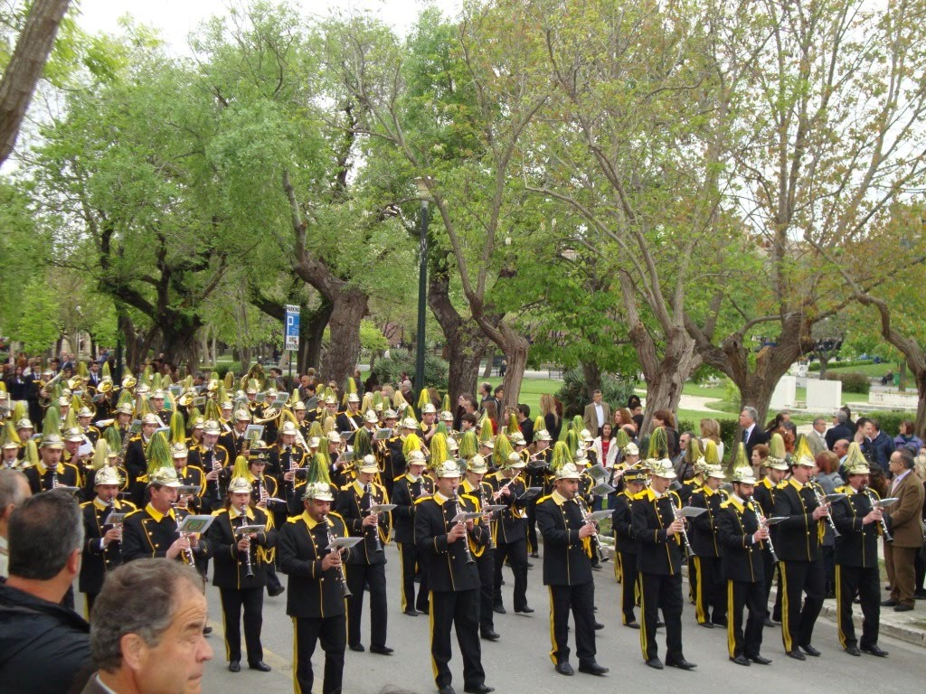 Marching band in Corfu streets