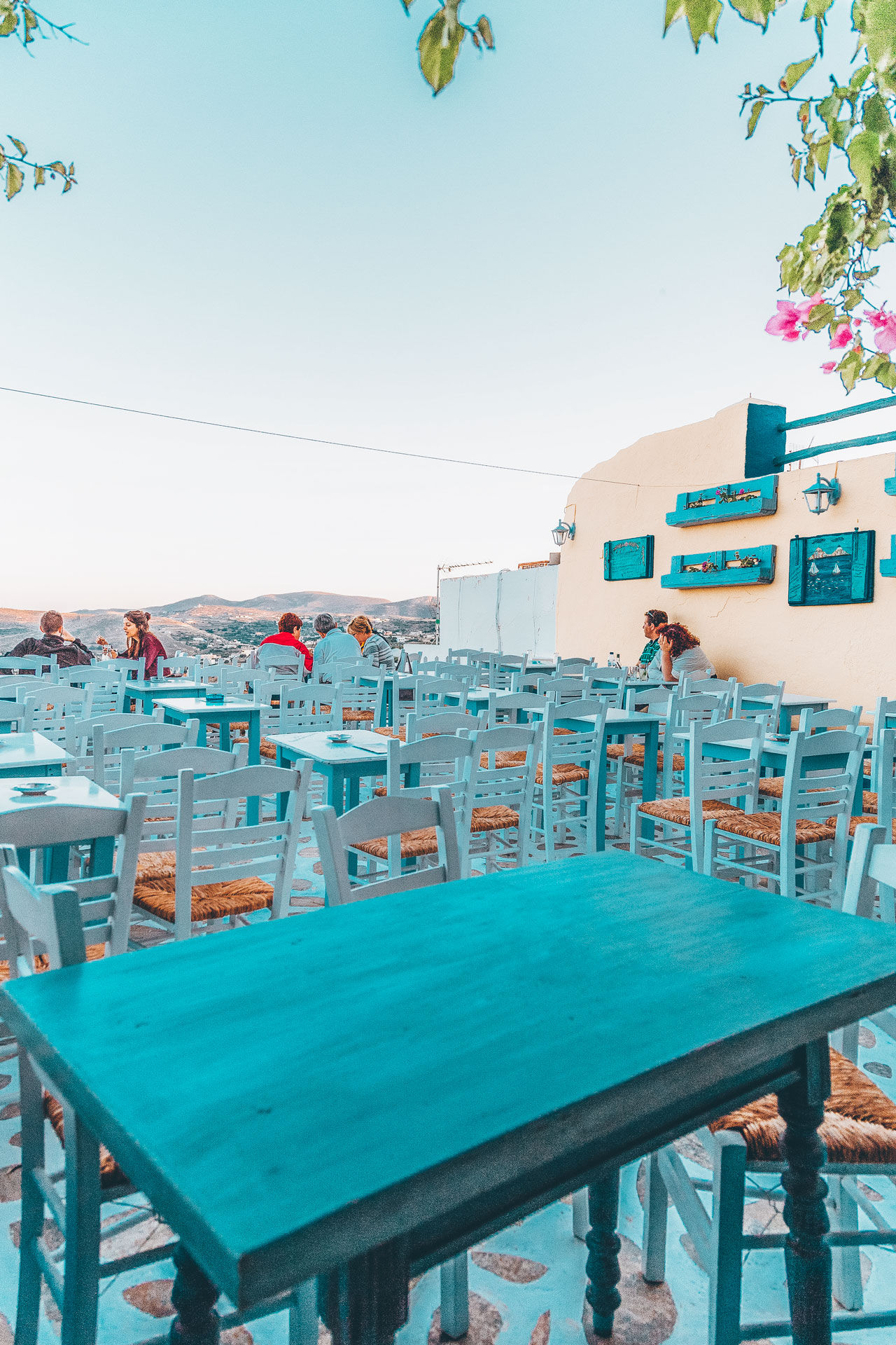 Restaurants and bars in Ano Syros, offer a panoramic view to the Aegean sea