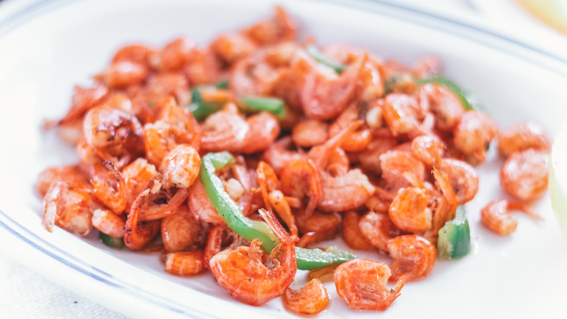Symi shrimps, the most famous and traditional dish in Symi