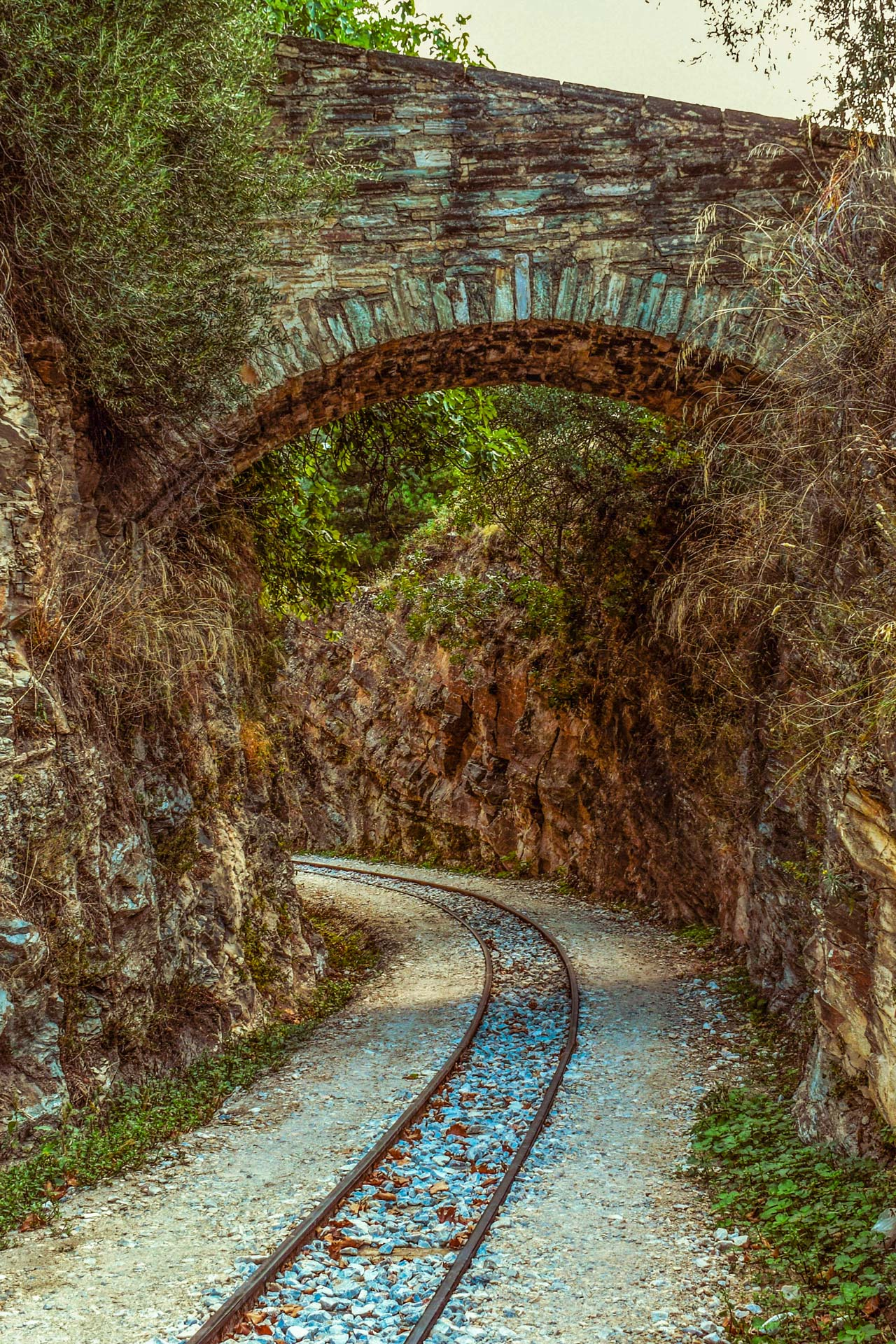 The path passes over arched bridges and through narrow tunnels and allowed previously remote communities to thrive