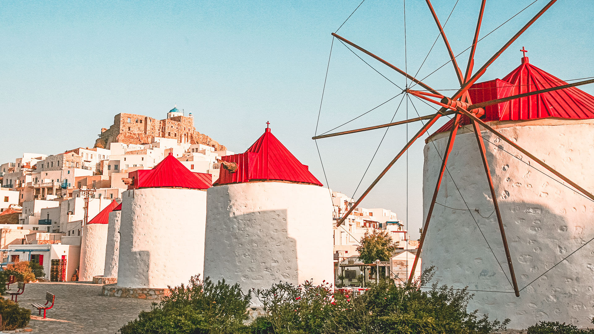 The Windmills of Hora in Astypalaia island