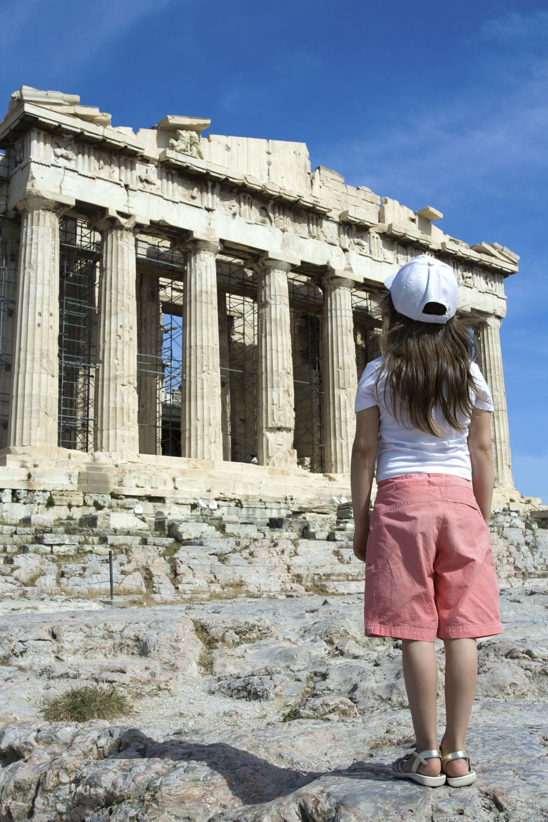 Visiting Acropolis Athens with kids