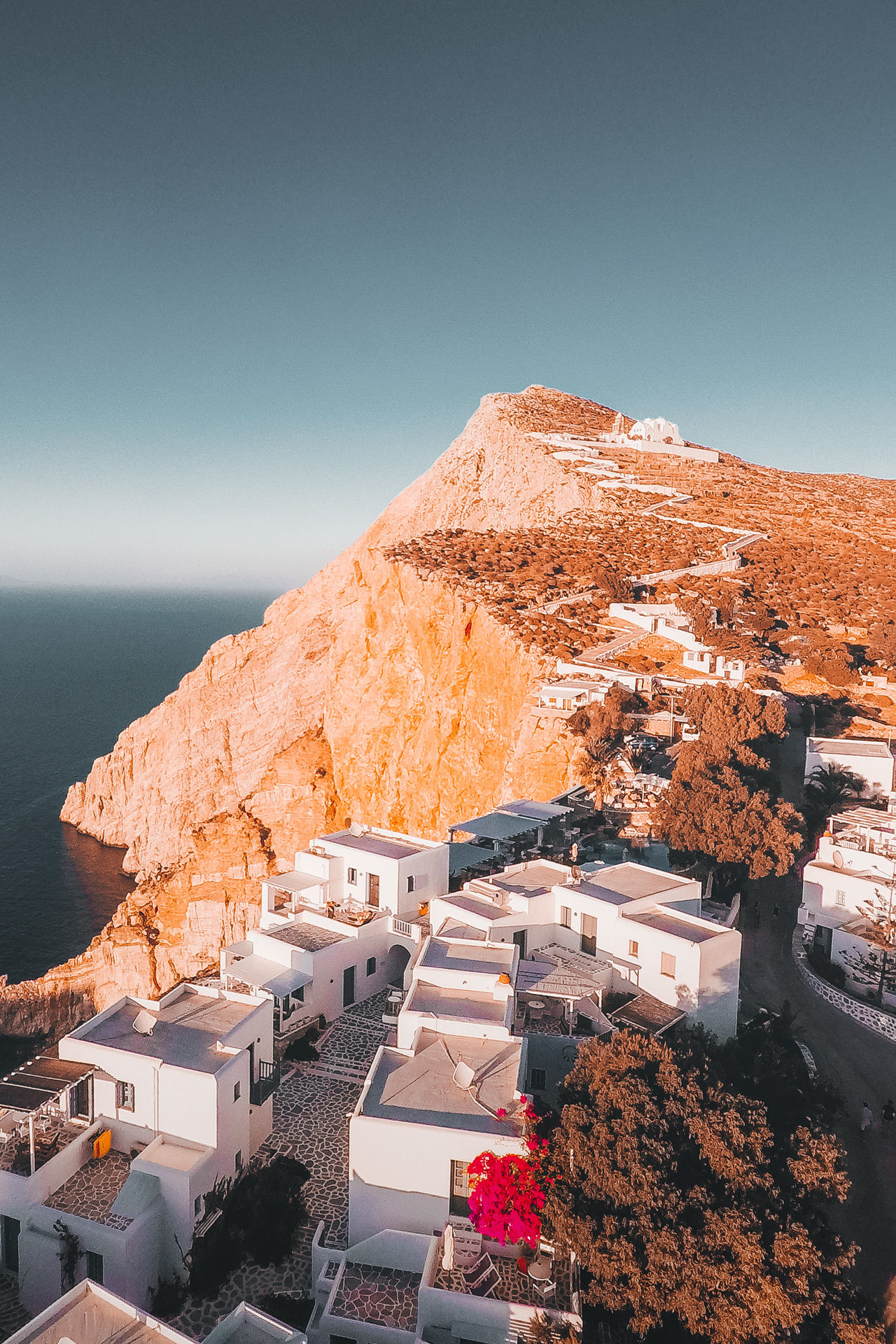 "If there's one Instagrammable image that shouts ""Folegandros"", it's of the iconic church of Panagia above Hora"