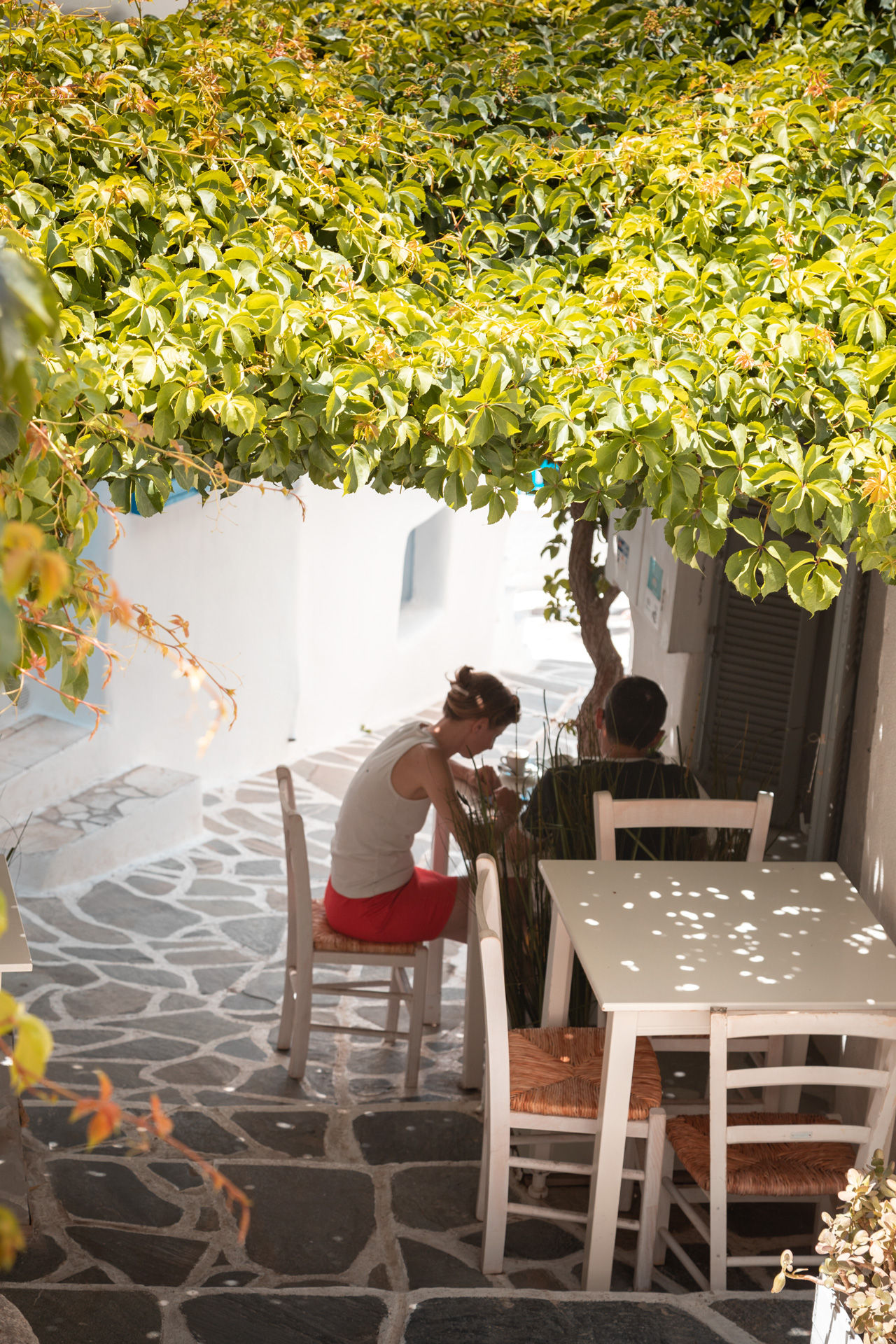 Naxos' legendary food is fully represented in Hora's tavernas and shops with local products