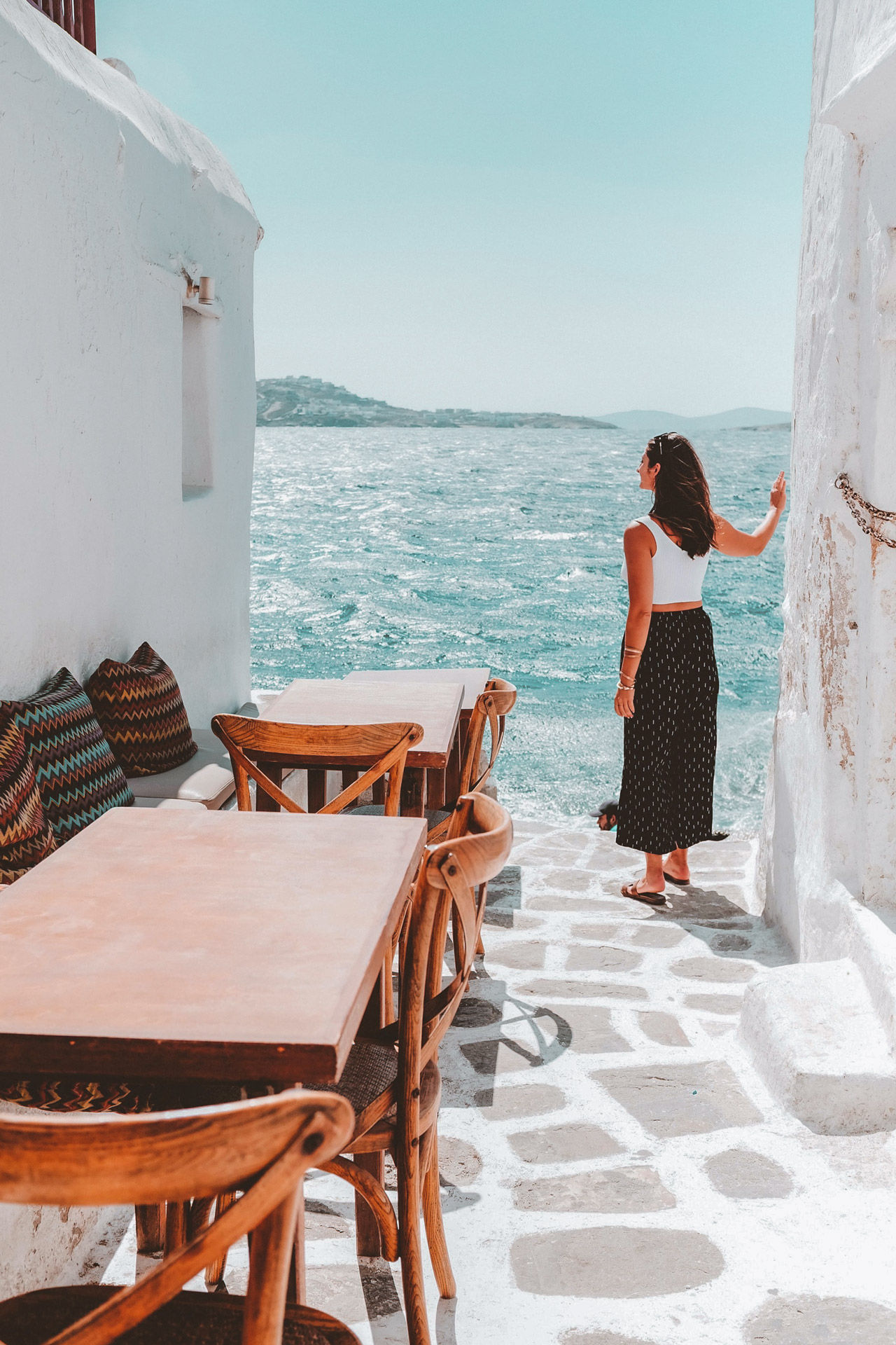 The main town of Mykonos can be enjoyed all year round