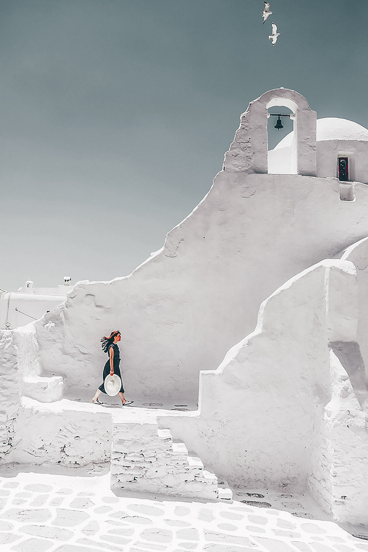 The most photographed church in Mykonos, Panagia Paraportiani