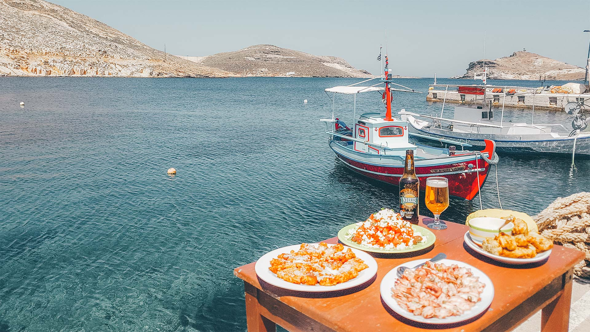 The seaside settlement of Panormos has plenty of idylic fish tavernas