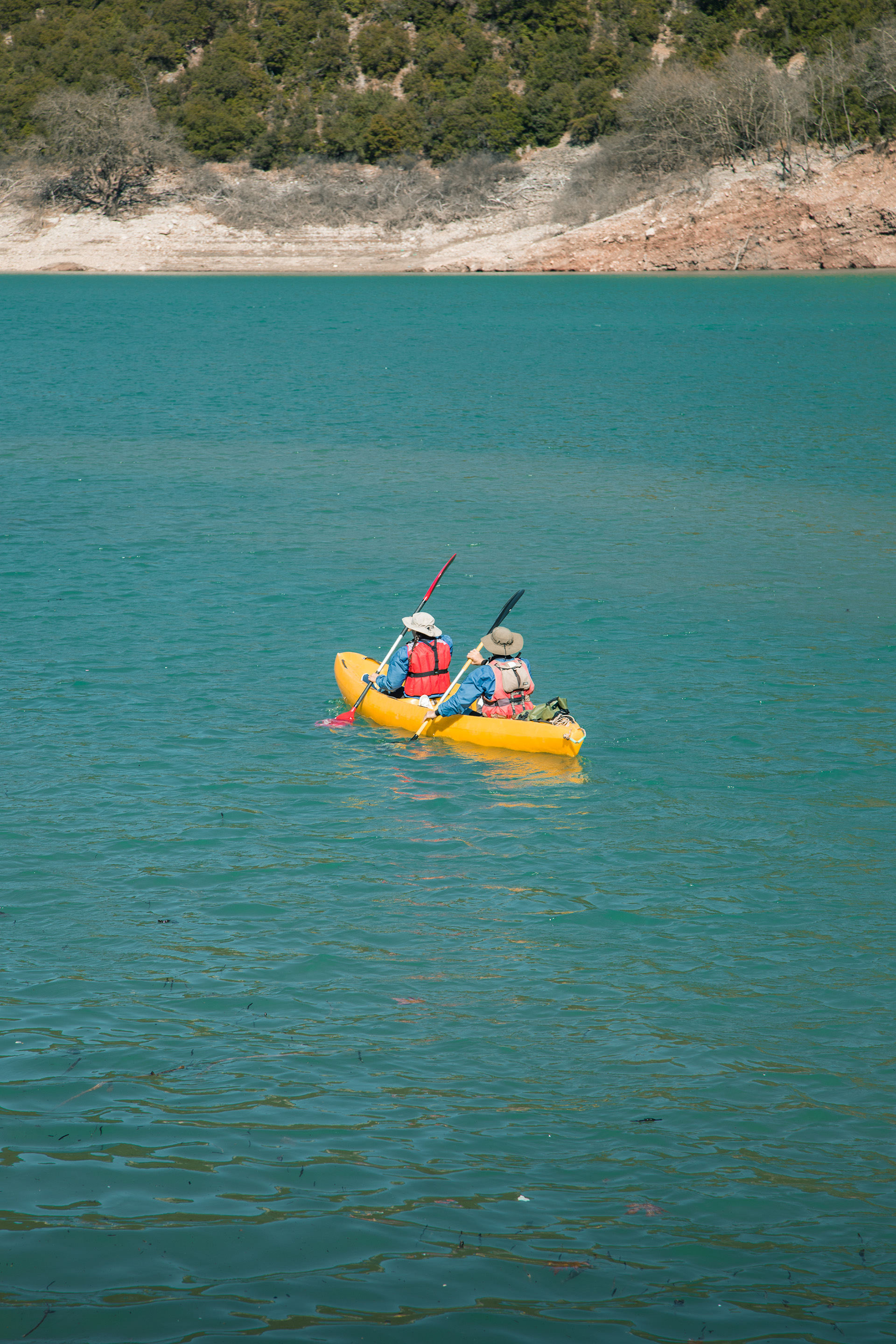 Kayaking at Lake Kremaston, Evrytania