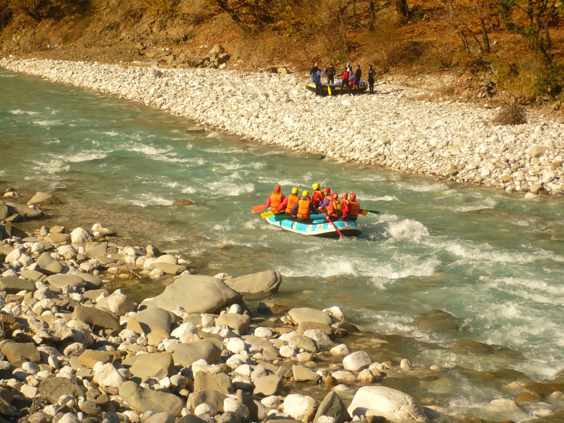 Rafting in river Aracthos, Epirus