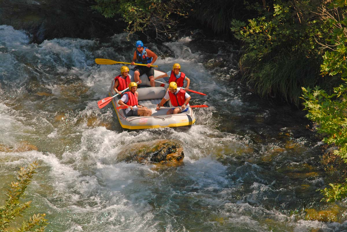 Rafting at Lousios Gorge in Arcadia