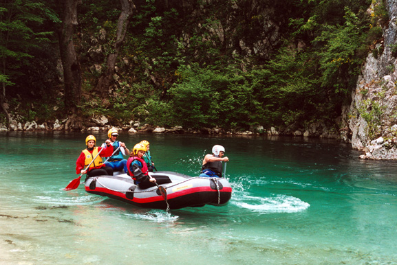 Rafting at Voidomatis river