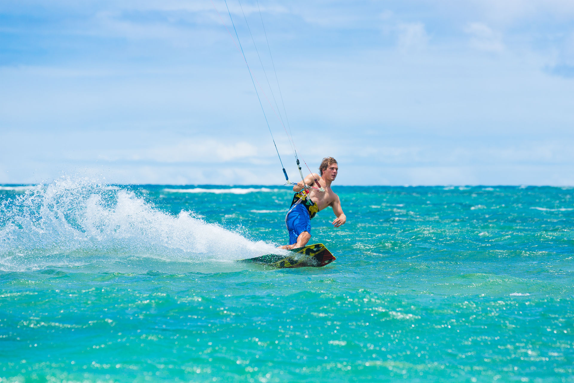 Kite Boarding, Fun in the ocean, Extreme Sport, Leukada