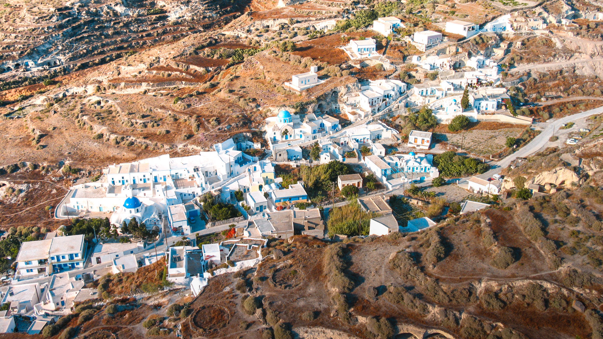 View of village in Thirassia from above