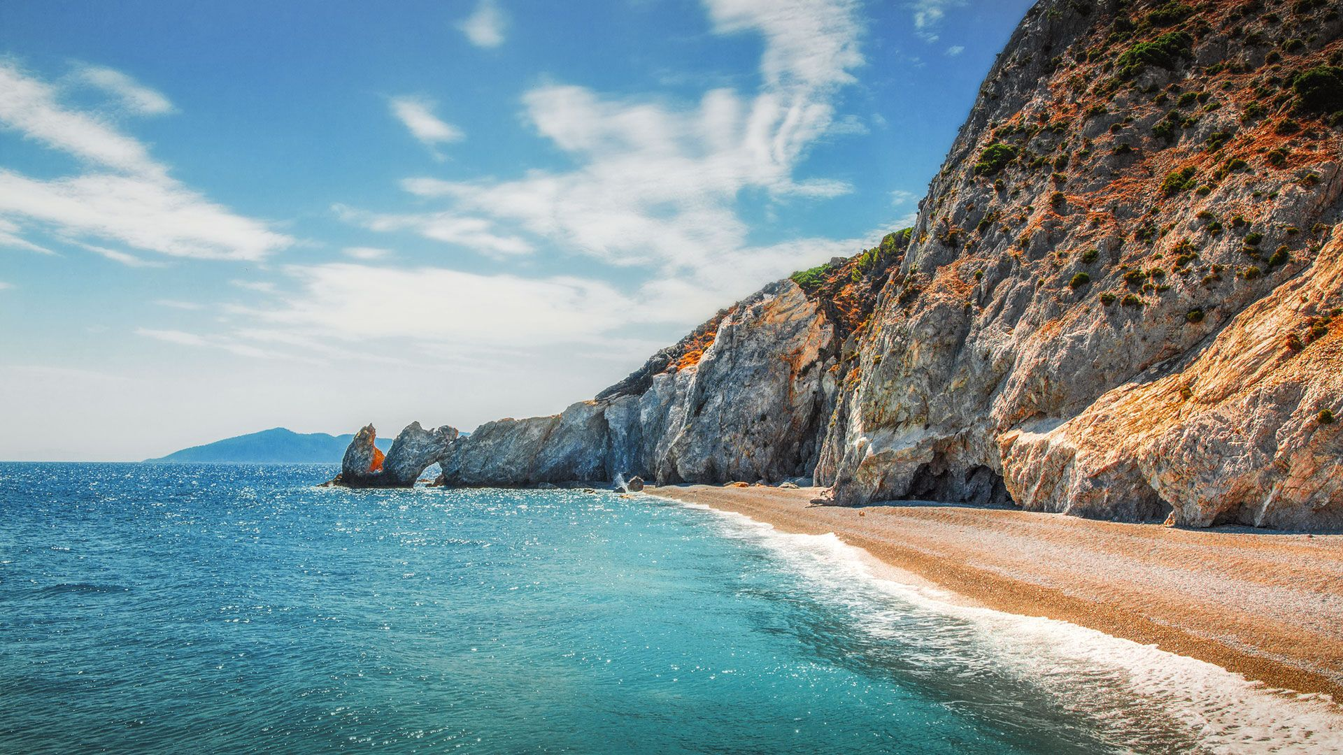 Lalaria beach on the Northeastern tip of Skiathos