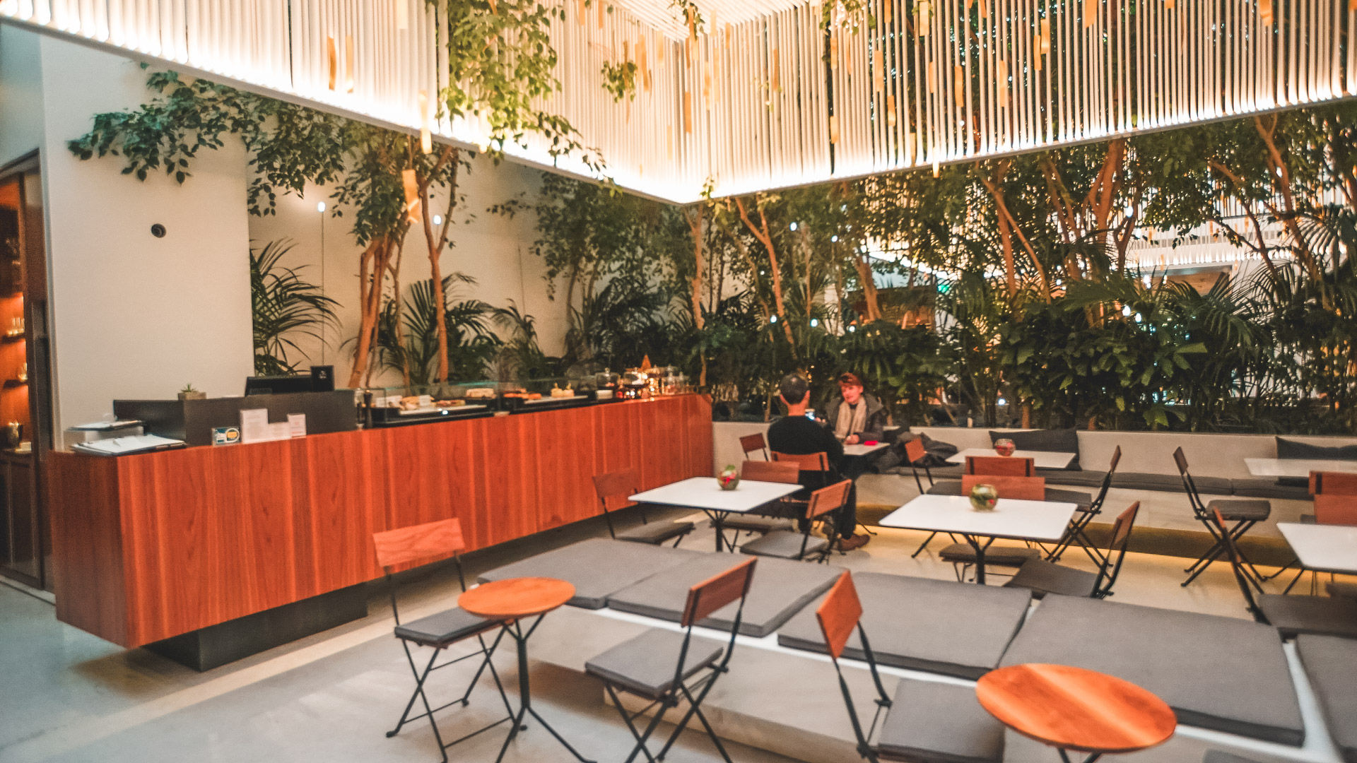 The museum has an excellent cafe that has been designed to be part of the experience, with uplifting lighting and a garden-like feel