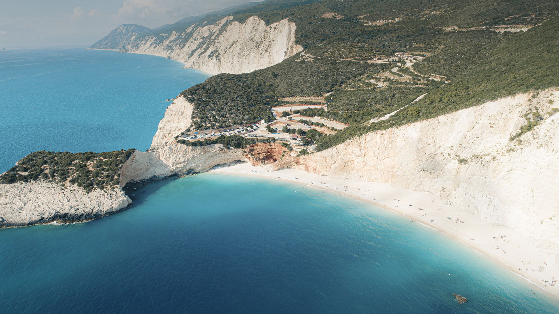Porto Katsiki beach from above