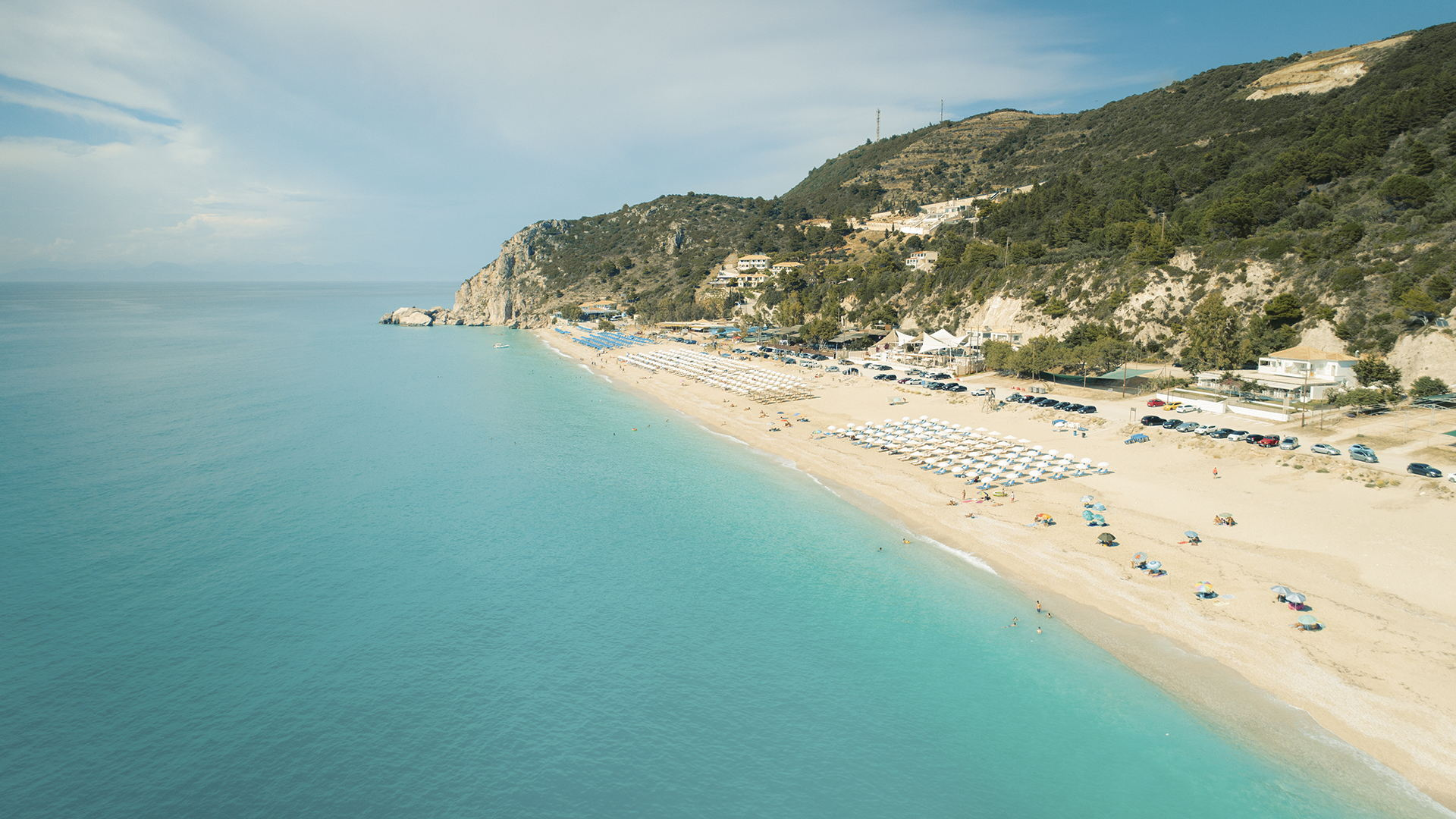 Lefkada's most cosmopolitan beach is a firm favourite because of its unique vibe