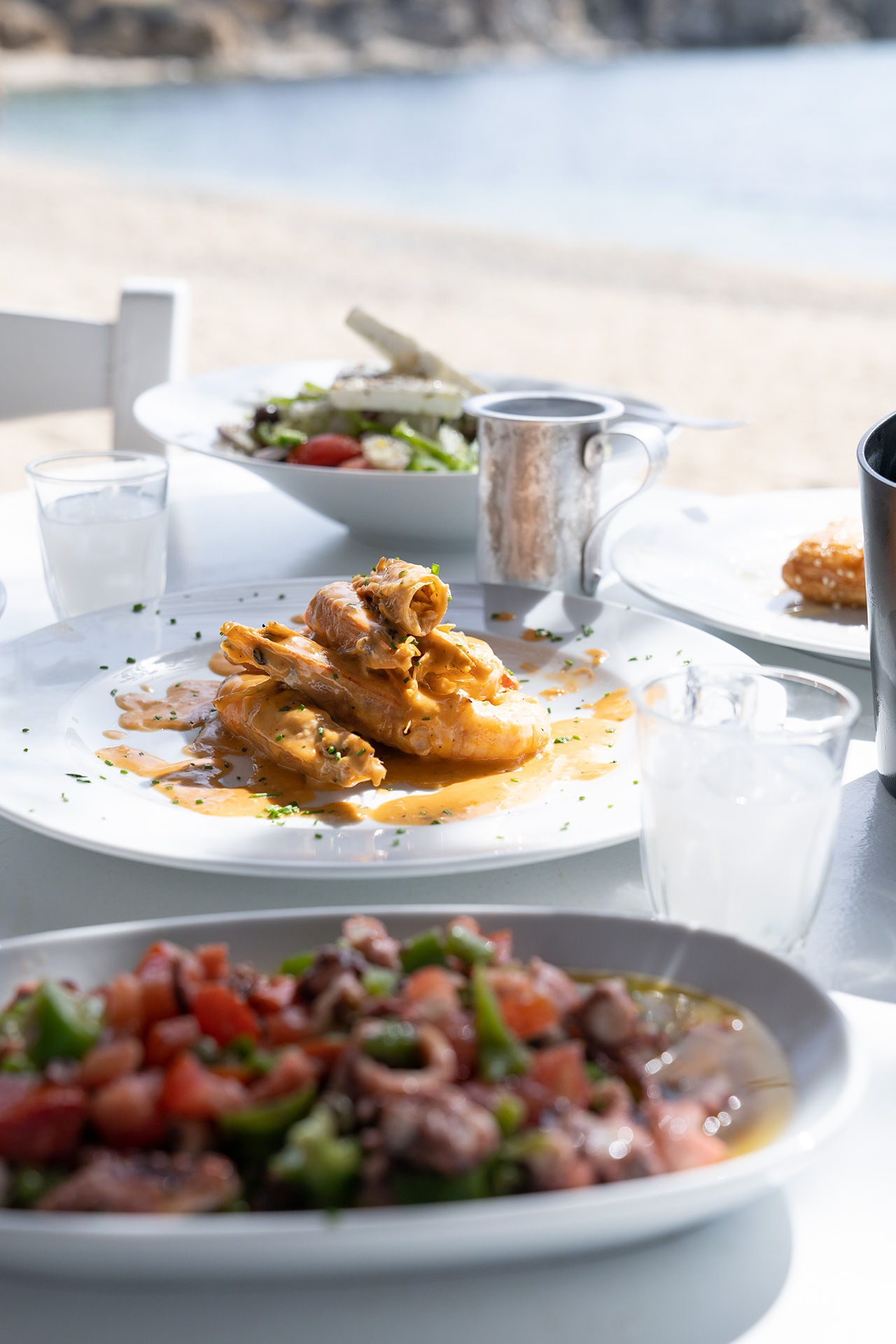 Chargrilled fish and fresh local delicacies in a family-run taverna in Agia Anna beach