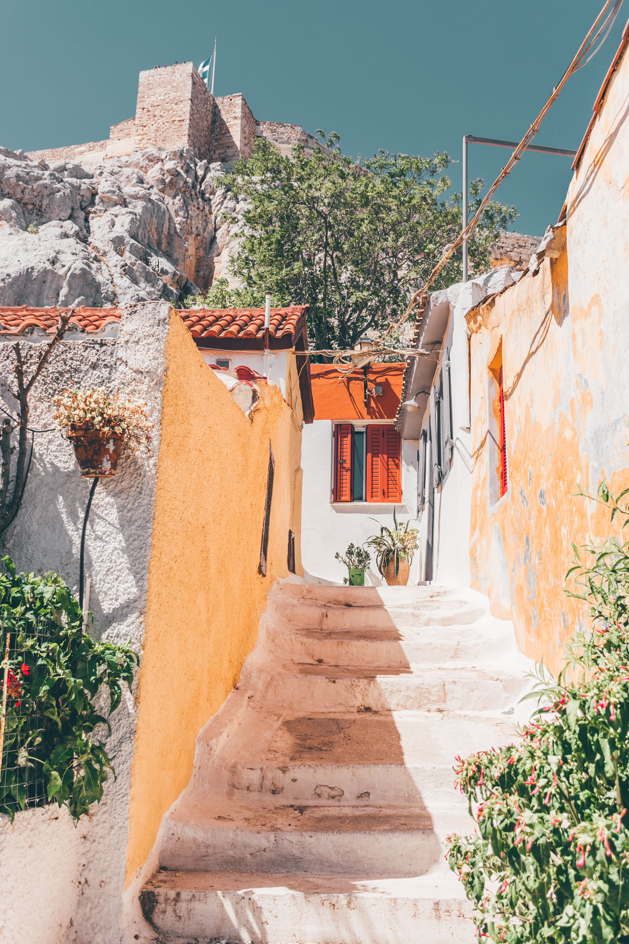 Explore Anafiotika's narrow alleyways and you'll think you're on a Cycladic island
