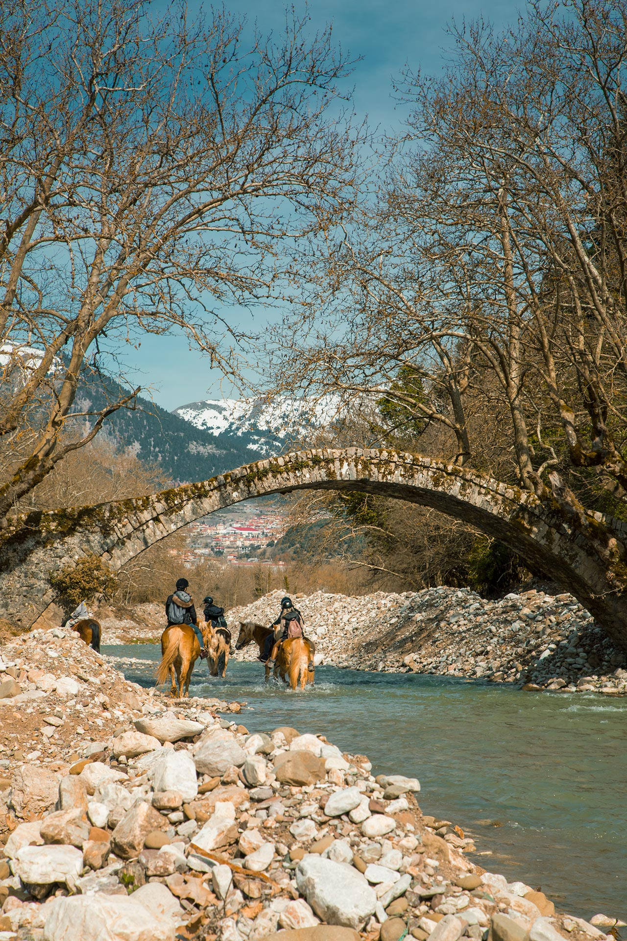 Horse riding in Korischades village