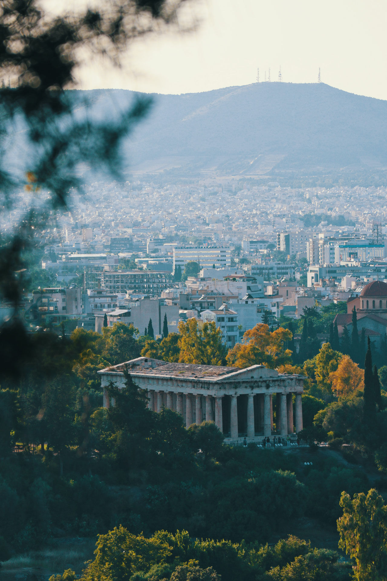 The Temple of Hephaestus was built in the 5th century BC as a dedication to the god of fire