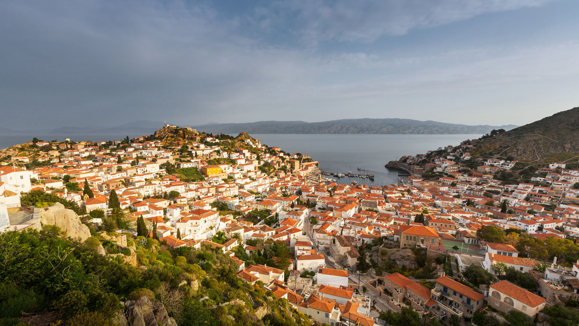 View of Hydra's Hora from above