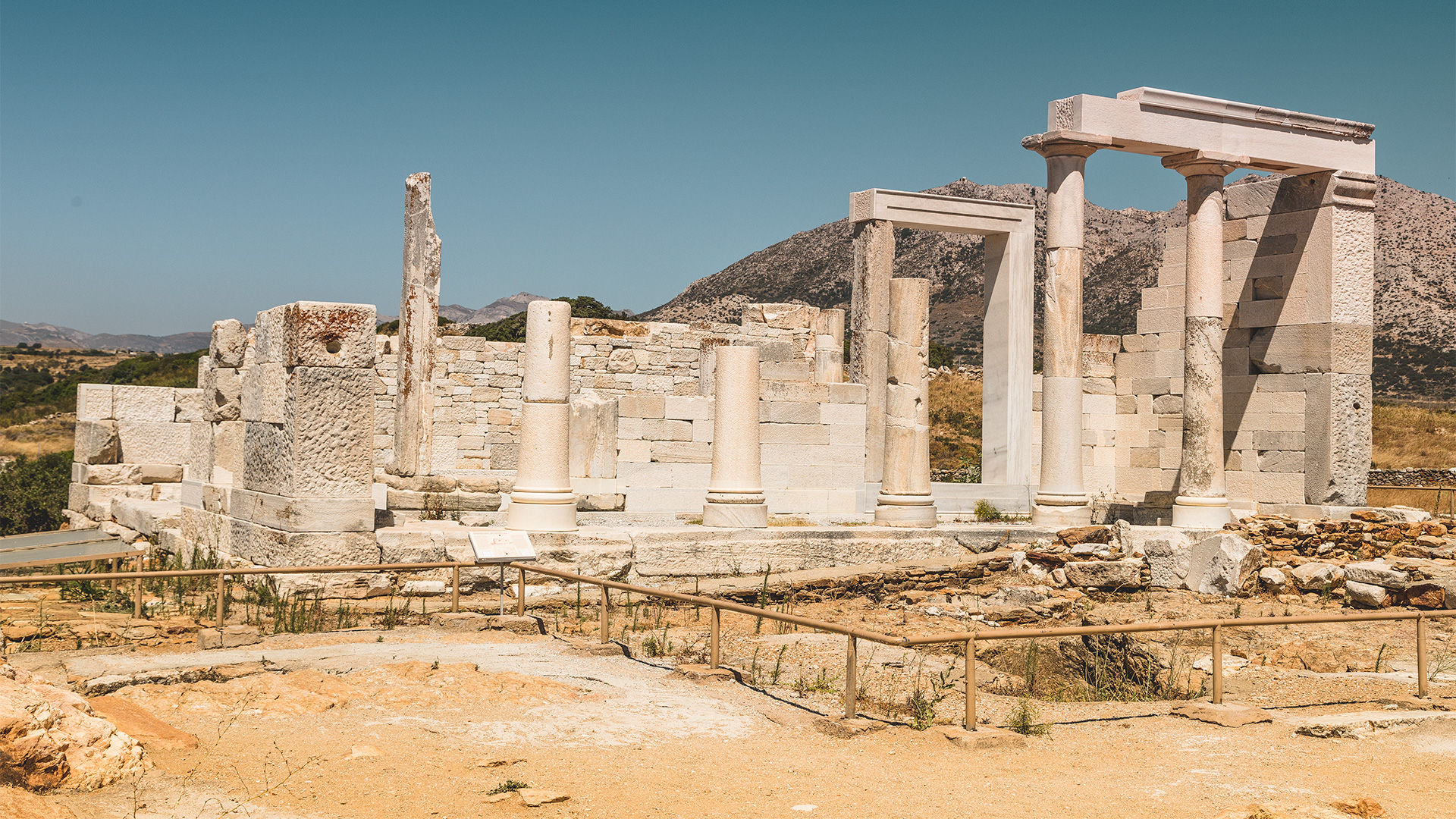 Τhe Temple of Demeter, the 6th-century BC sanctuary dedicated to the goddess of harvest and fertility