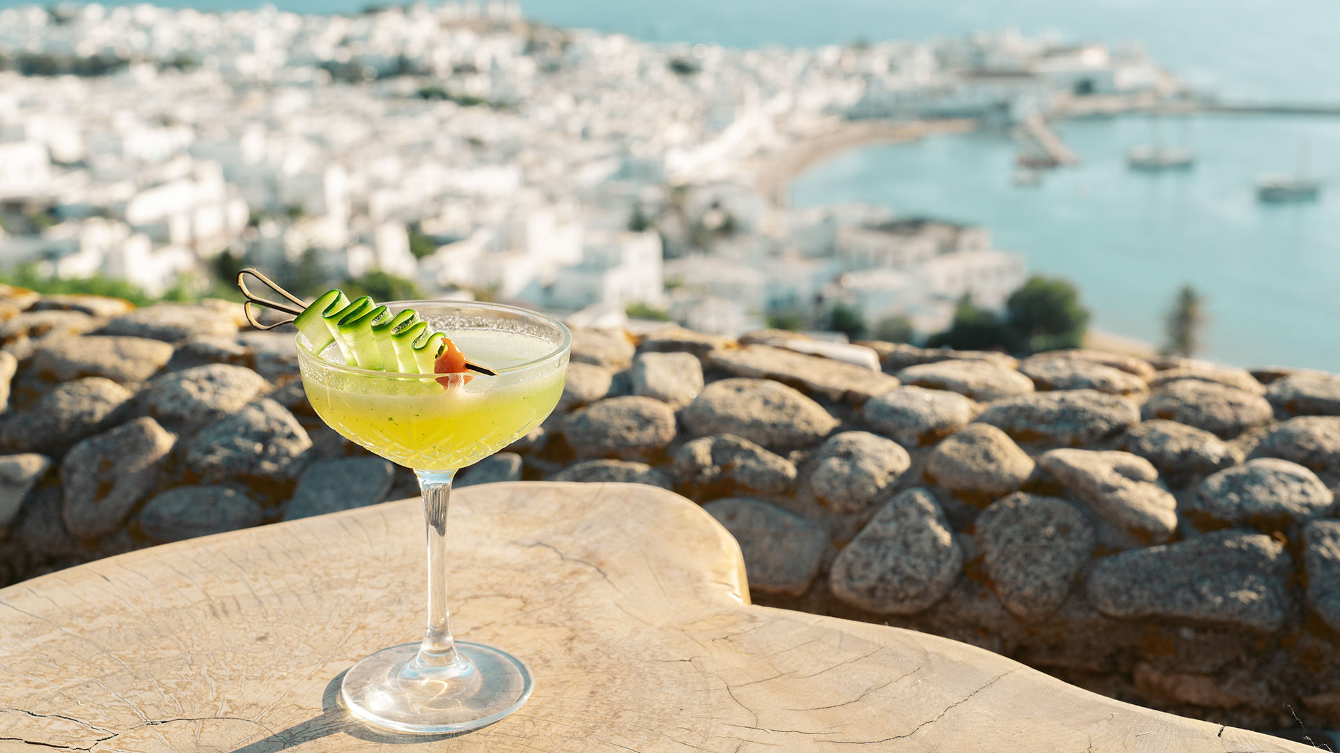 Nothing shouts style and sophistication quite like enjoying your drink in Mykonos.