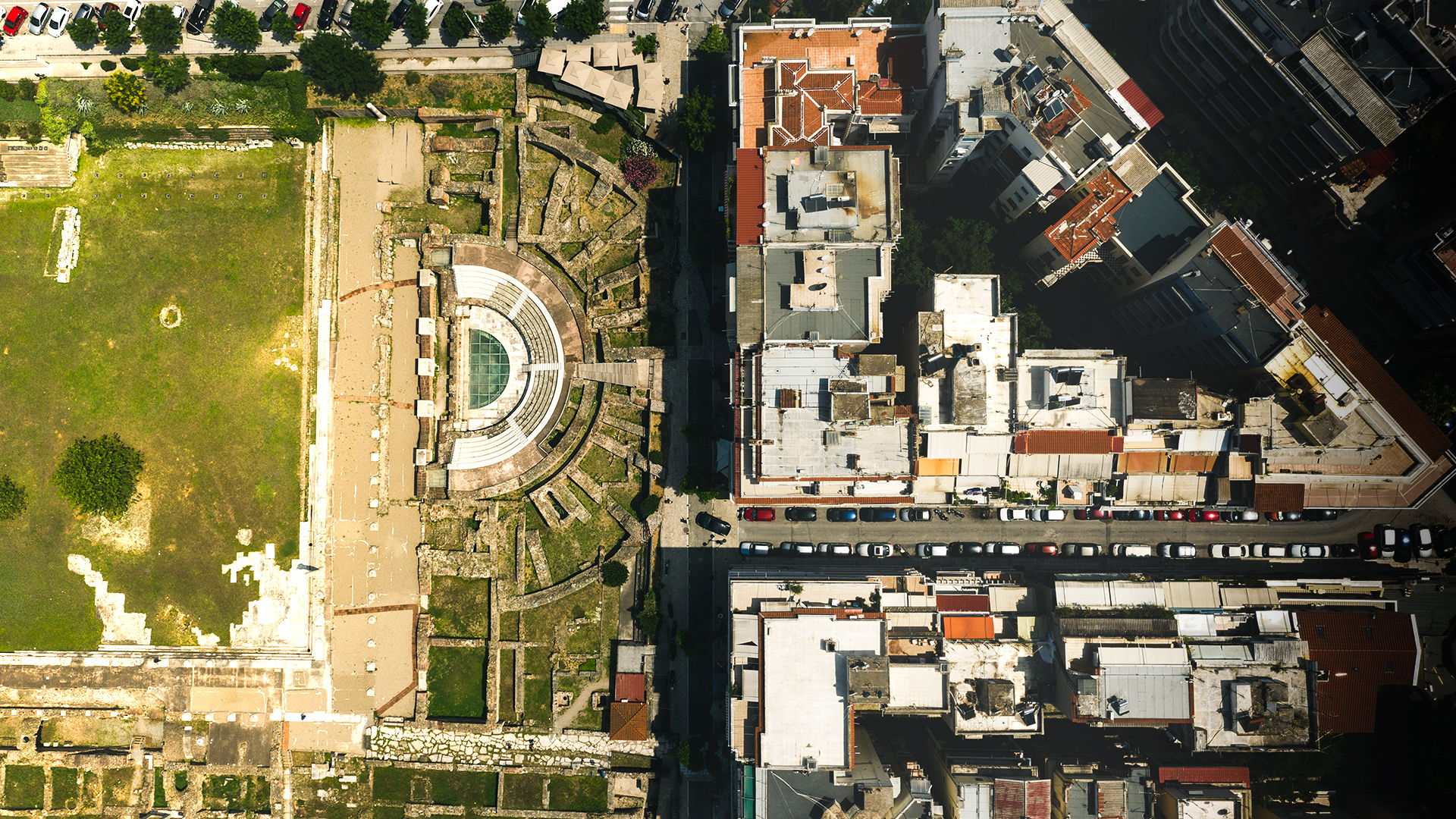 Aerial View of the Ancient Agora