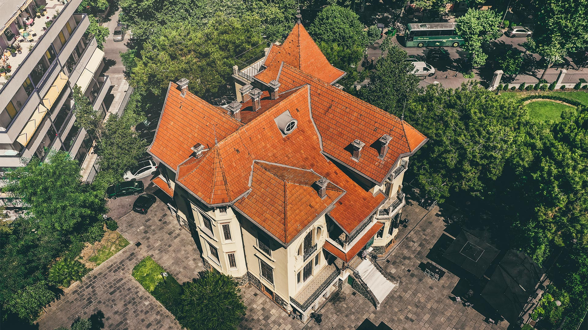 Aerial view of Casa Bianca