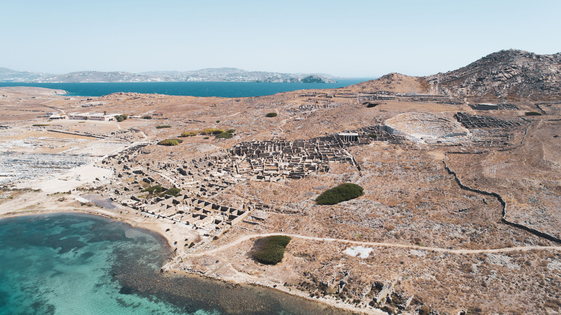 Aerial view of Delos island
