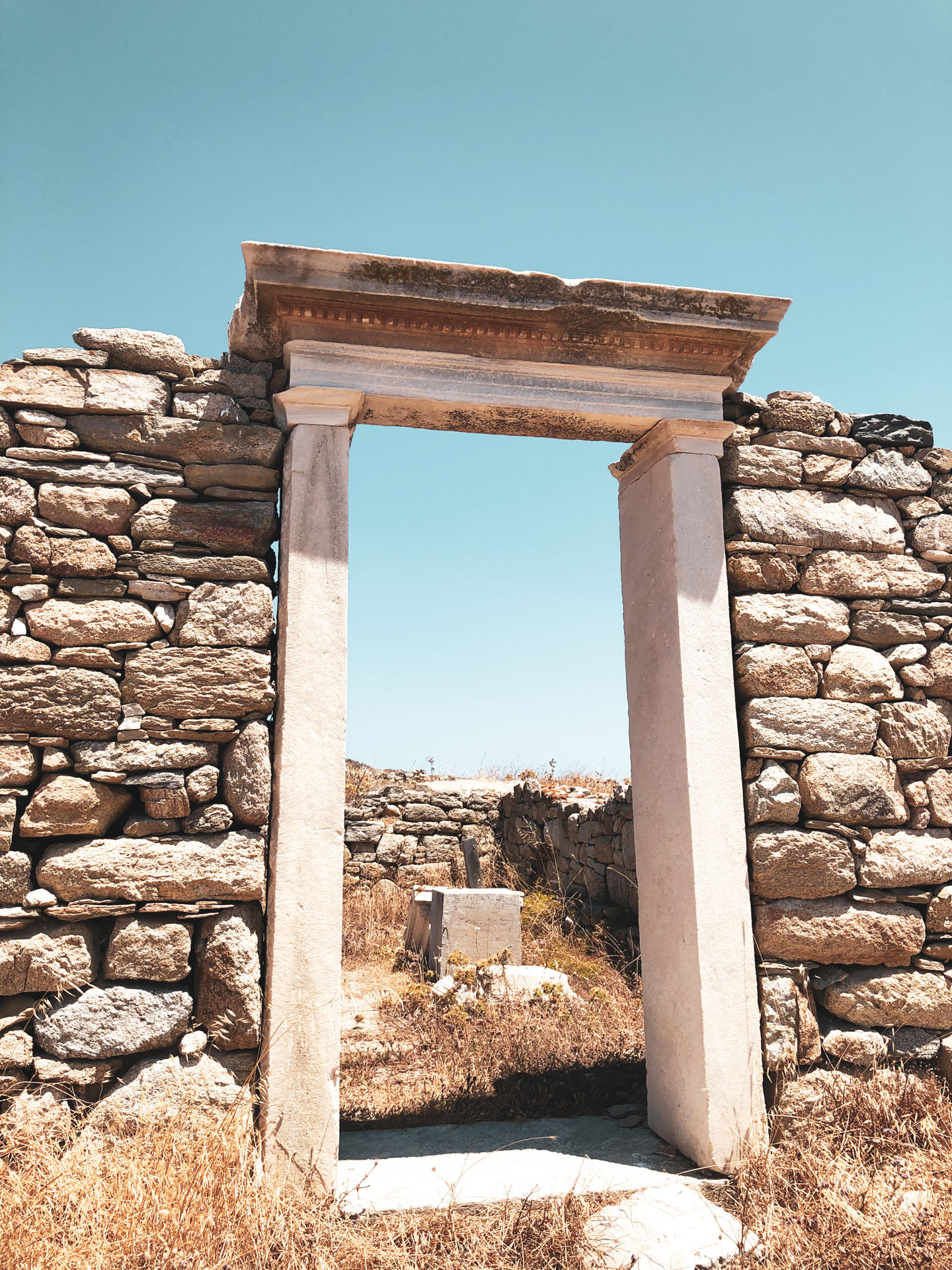 Ancient remains dating from Mycenaean times in Delos