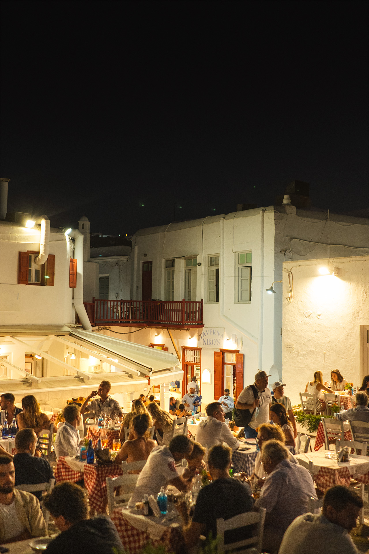 Every night out on this fabled Cycladic island is an occasion.