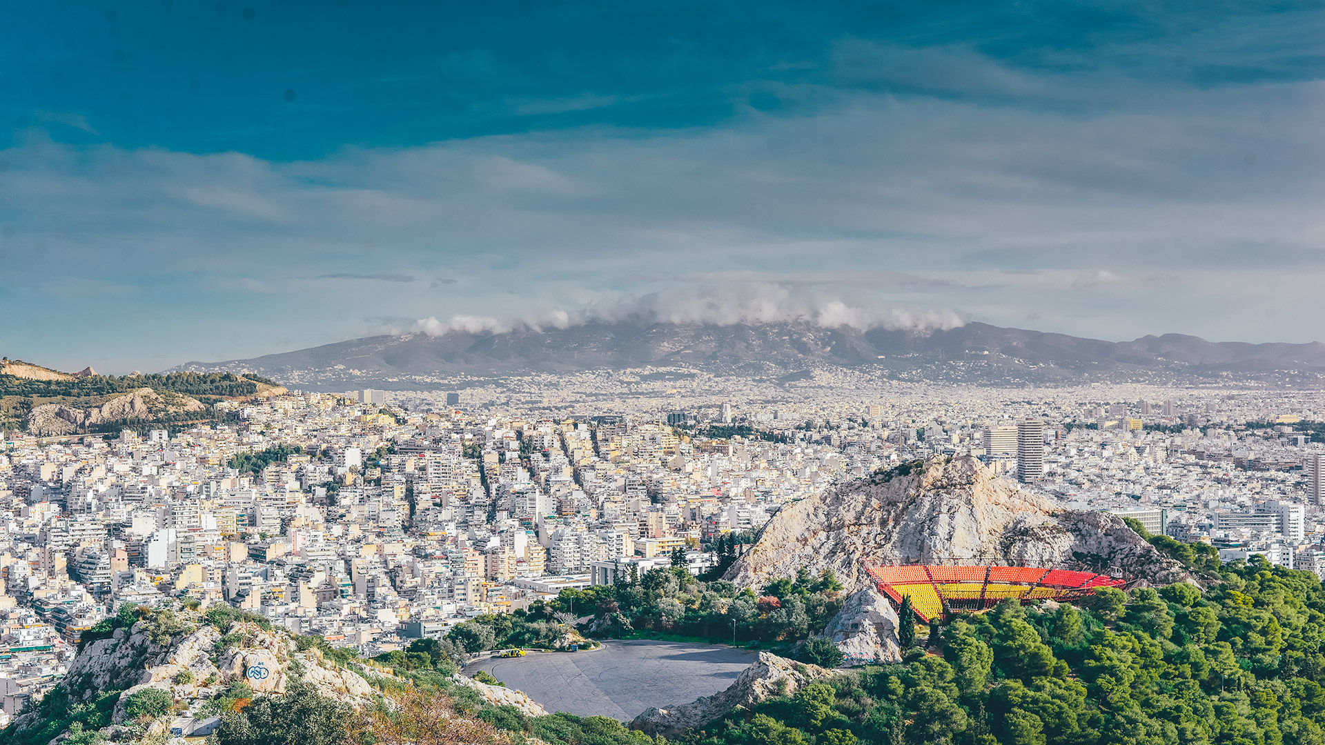 Lycabettus Hill is Athens' highest spot